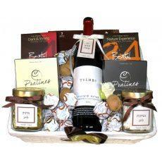 סלסלת שוקולד ויין- למהדרין